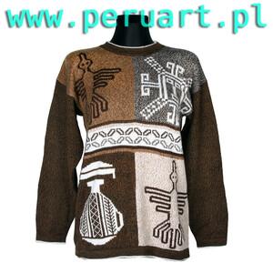 Modernistyczne wełniany sweter, swetry wełniane, peruwiańskie swetry, swetry z JU92