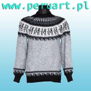 W Mega wełniany sweter, swetry wełniane, peruwiańskie swetry, swetry z ZH46