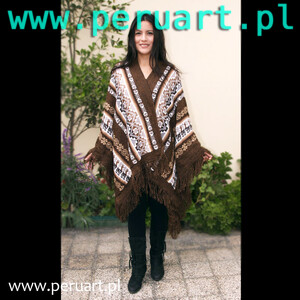 PONCHO RUANA BROWN