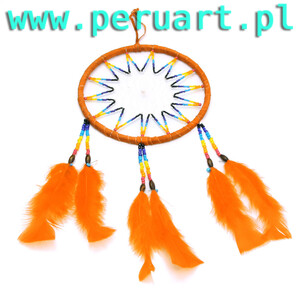 INDIAŃSKI ŁAPACZ SNÓW dreamcatcher 03 ORANGE